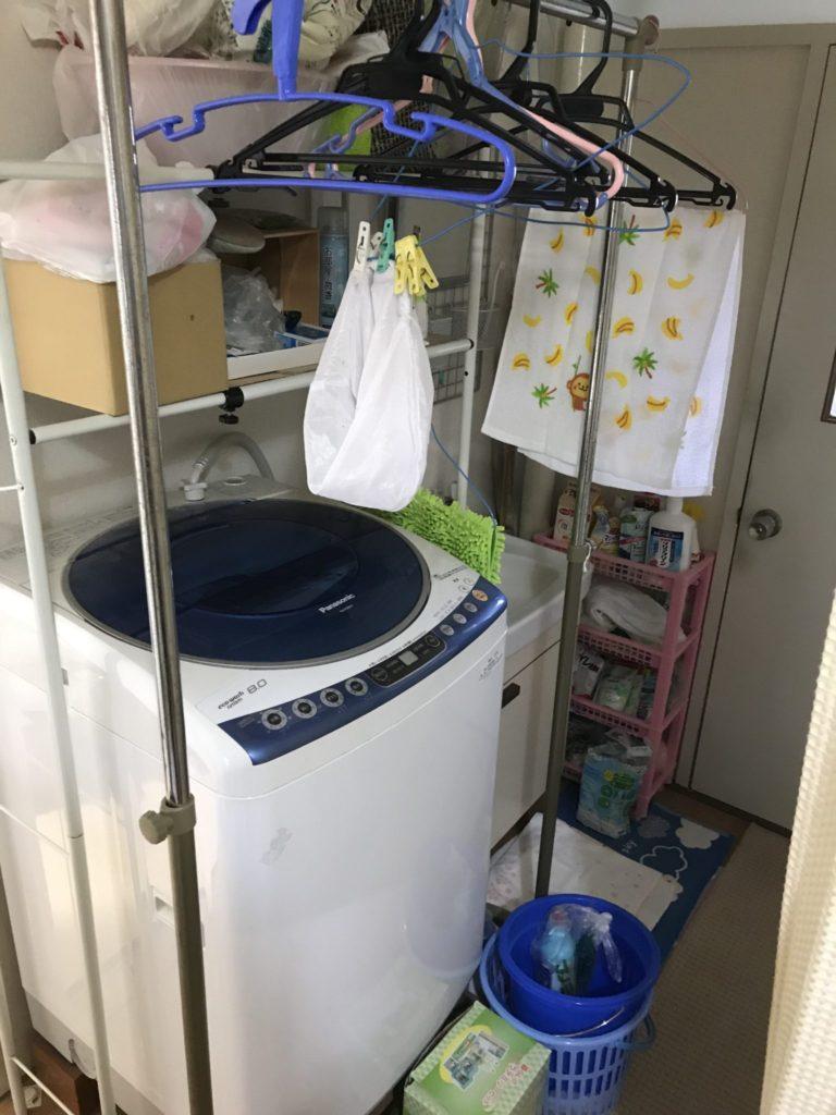 トイレ付近の洗濯機の不用品処分