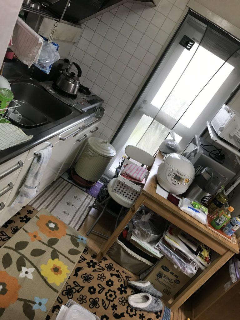 炊事場の不用品