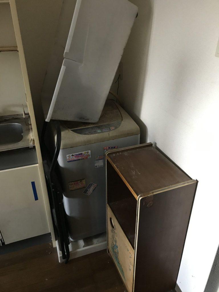 洗濯機・小物入れの回収