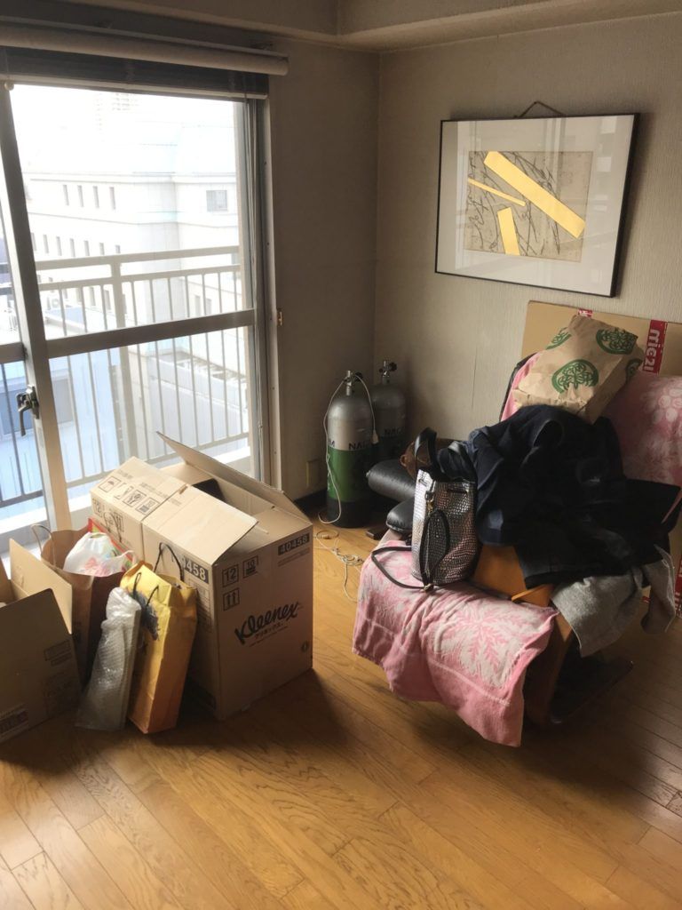 大阪市天王寺区の大量の不用品回収前9