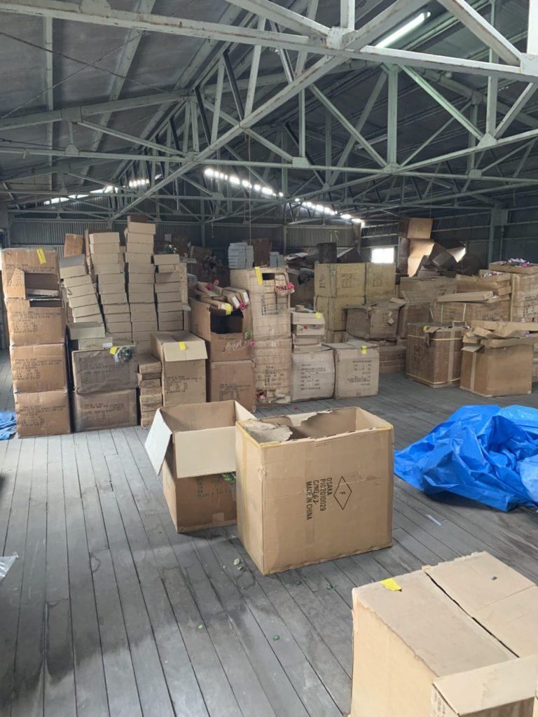 大阪府堺市の倉庫整理 大量の不用品処分前4
