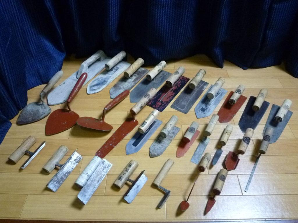 大阪市都島区にて左官道具の鏝を大量に買取させて頂いたクリニーズの不用品買取事例