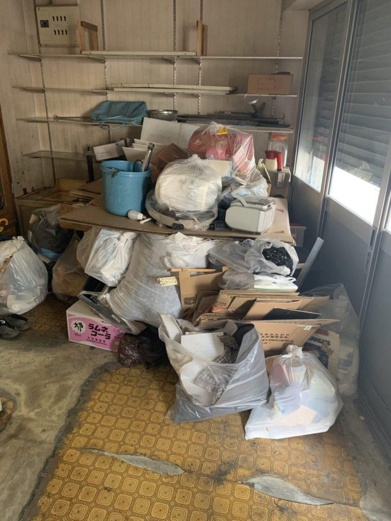 大阪市生野区40代男性 大量の不用品処分 引越しサービス前1