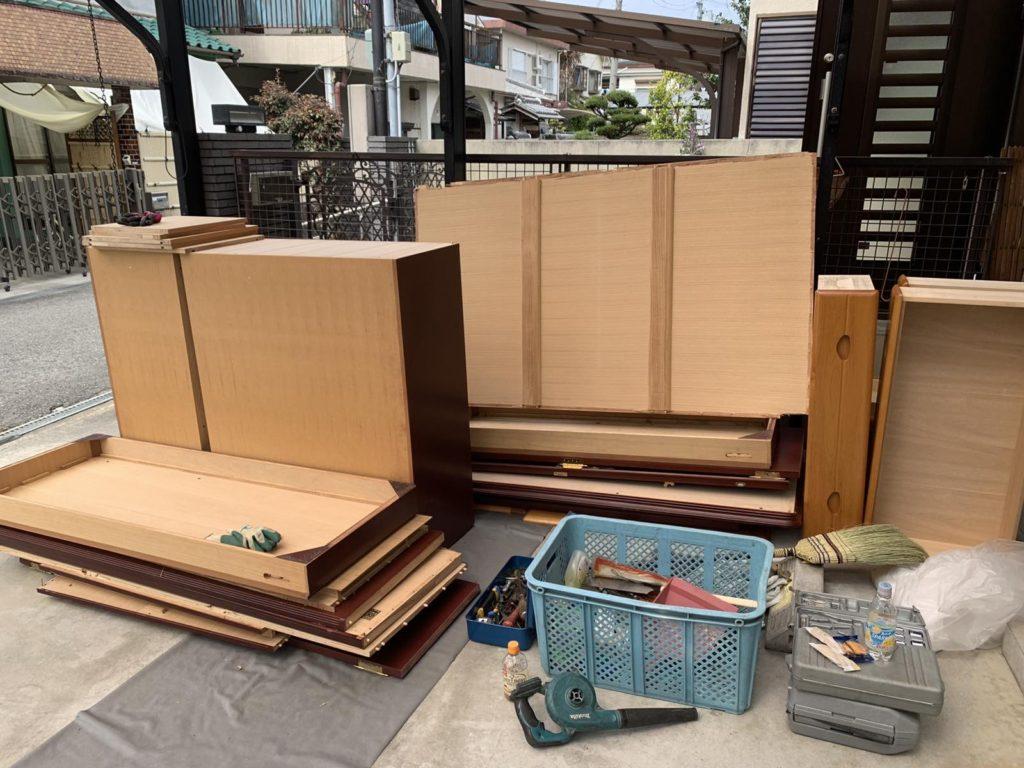 大阪府富田林市 大量の不用品処分 K様40代女性 不用品回収前2