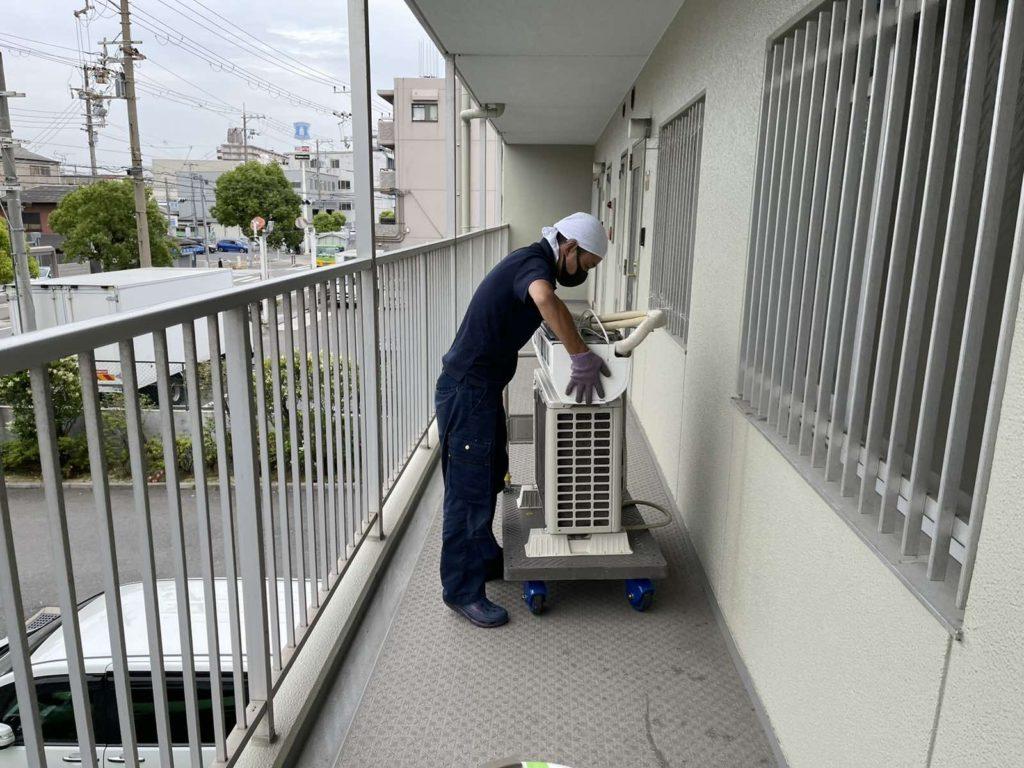 大阪市西淀川区 大量の不用品回収 法人のお客様 作業前
