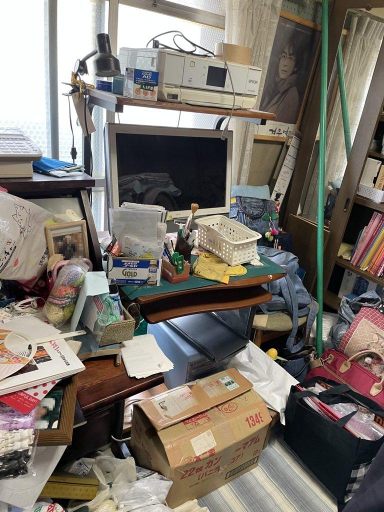 大阪市生野区 家一軒まるごと整理・お片付け 法人のお客様 不用品回収前4